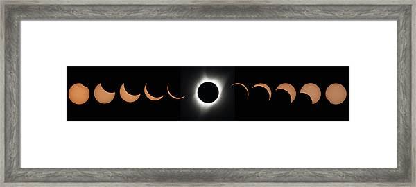 2017 Total Solar Eclipse Framed Print