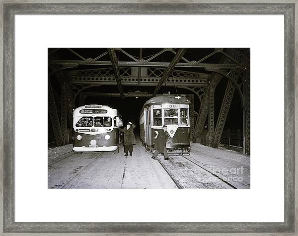 207th Street Crosstown Trolley Framed Print