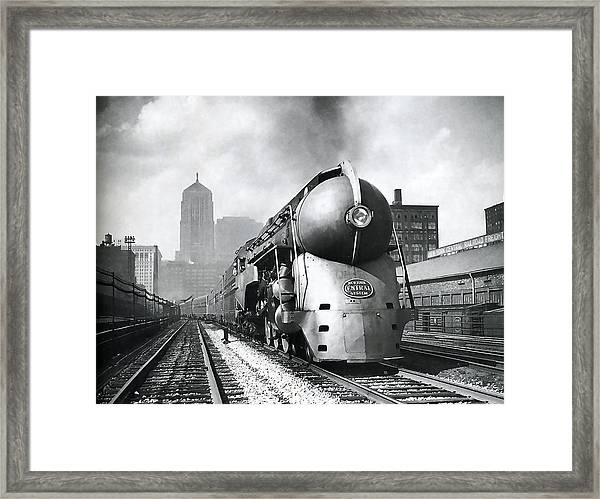 20th Century Limited Streamlined Train  1939 Framed Print