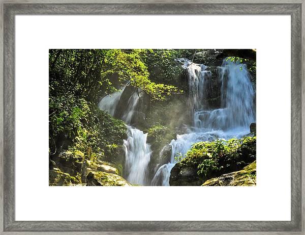 Waterfall Scenery Framed Print