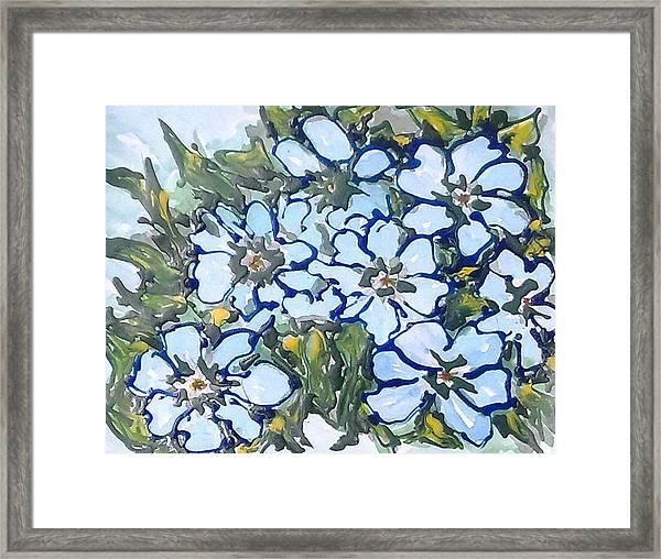 Digital Flower Painting Framed Print by Baljit Chadha
