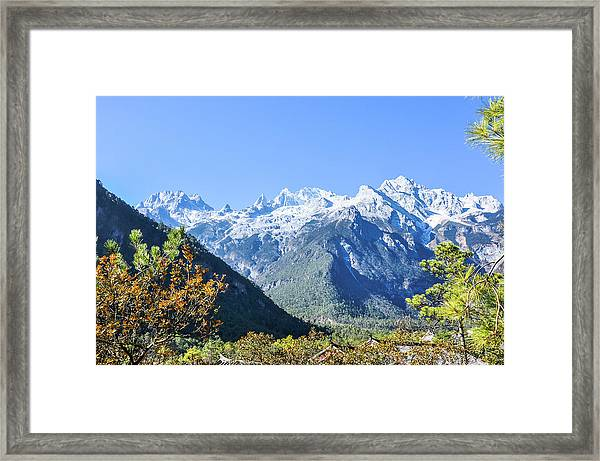 The Plateau Scenery Framed Print