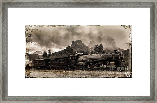2816 Empress At Three Sisters - Canmore Framed Print