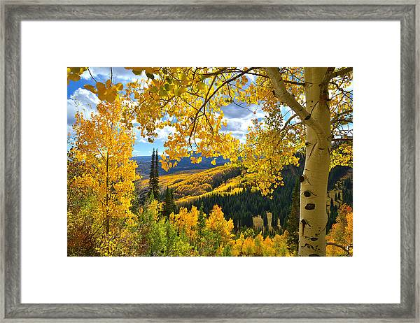 Ohio Pass Fall Colors Framed Print