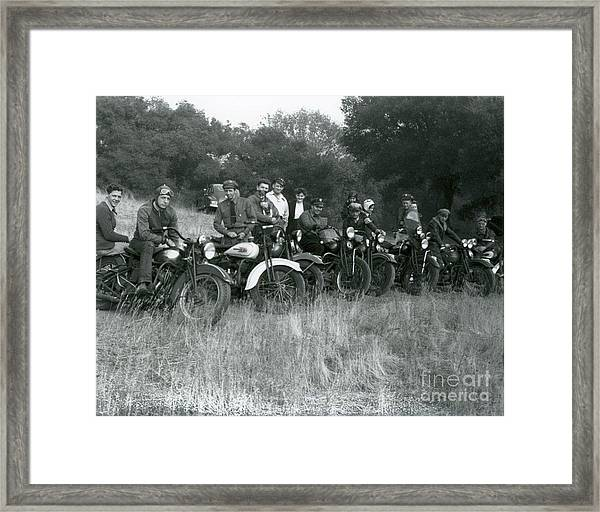 1941 Motorcycle Vintage Series Framed Print