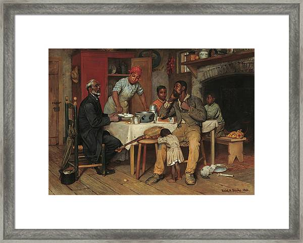 A Pastoral Visit Framed Print