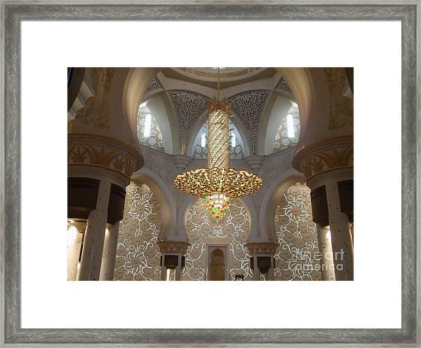 Abu Dhabi Sheikh Zayed Mosque Framed Print by Valia Bradshaw