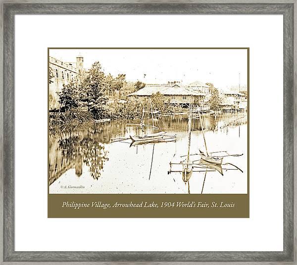Arrow Head Lake, Philippine Village, 1904 Worlds Fair, Vintage P Framed Print