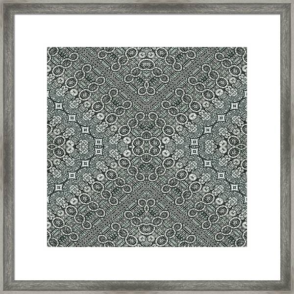 Aztec Navajo Pattern Background Framed Print