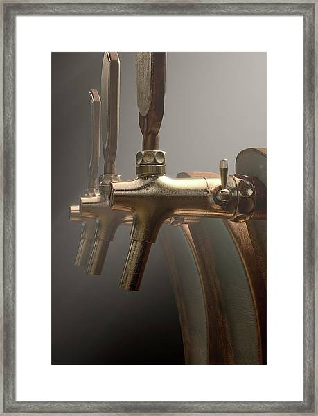 Beer Tap Row Framed Print