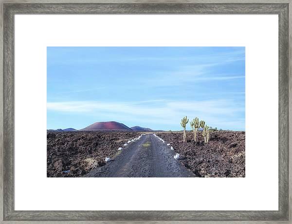 Caldera Colorada - Lanzarote Framed Print