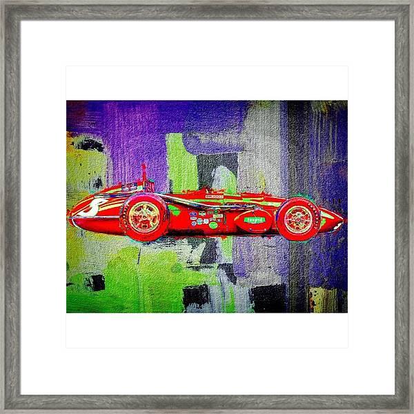 #car #sportscar #racecar #nascar Framed Print