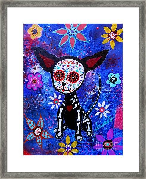 Chihuahua Day Of The Dead Framed Print