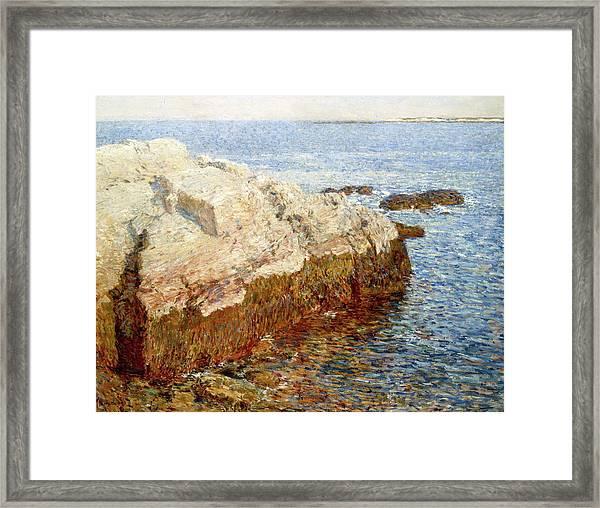 Cliff Rock - Appledore Framed Print