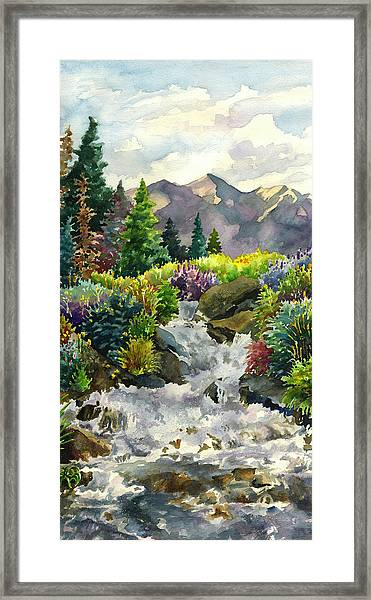Colorado Waterfall Framed Print