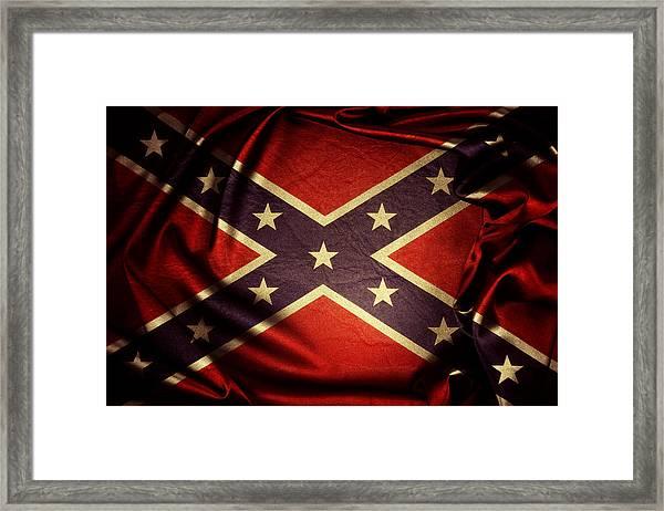 Confederate Flag 6 Framed Print