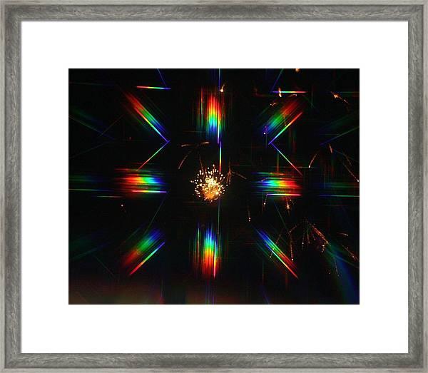 3-d Fireworks Framed Print by JoAnn Tavani