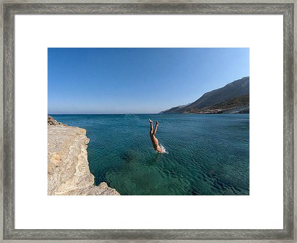 Dive Into The Sea Framed Print