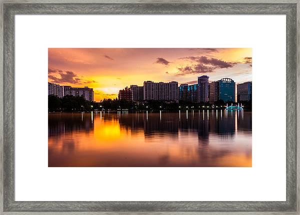 Downtown Orlando Framed Print