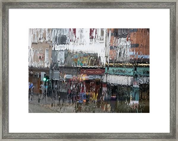 Dublin In The Rain. Framed Print