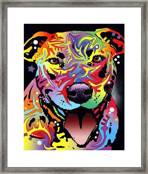 Happy Bull Framed Print