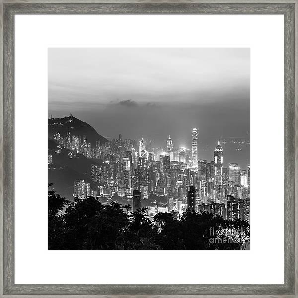 Hong Kong Skyline Framed Print