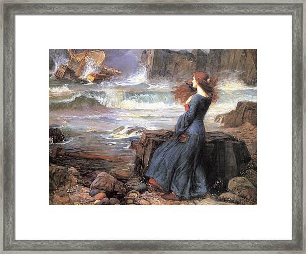 Miranda - The Tempest Framed Print