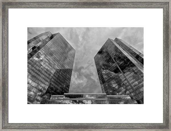 Office Buildings White Plains Ny Framed Print