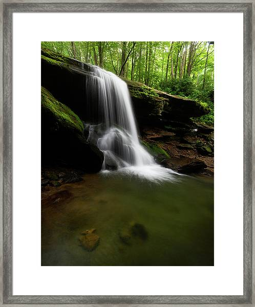 Otter Falls - Seven Devils, North Carolina Framed Print