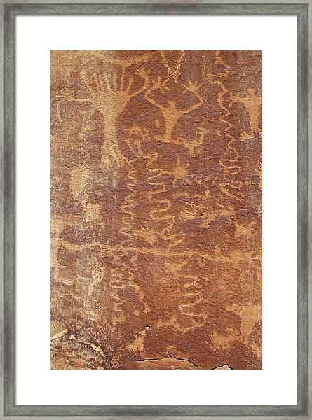 Framed Print featuring the photograph Petroglyph - Fremont Indian by Breck Bartholomew