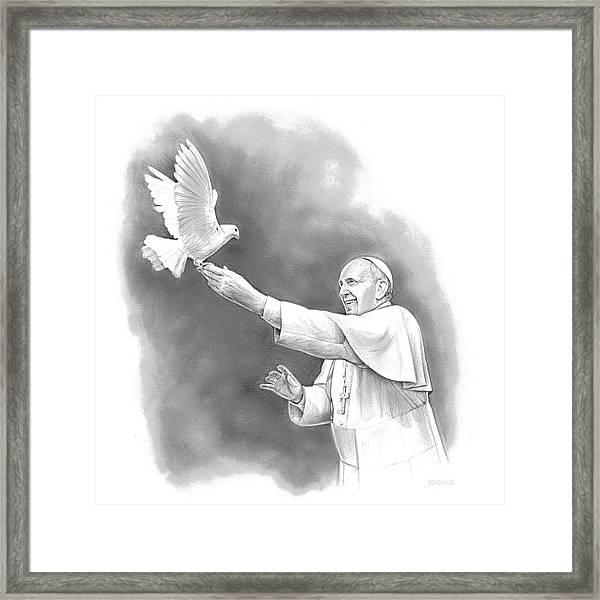 Pope Francis Framed Print