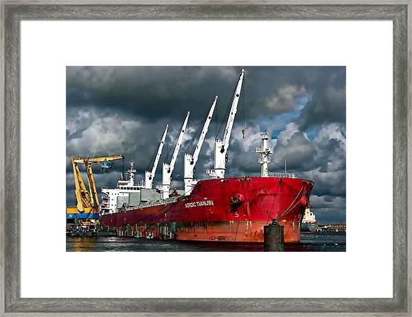 Port Of Amsterdam Framed Print