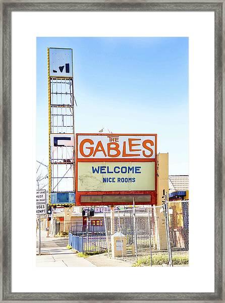 Remnants Of Vintage Vegas Framed Print