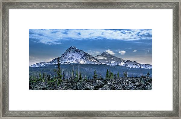 3 Sisters Of Oregon Cascades Framed Print