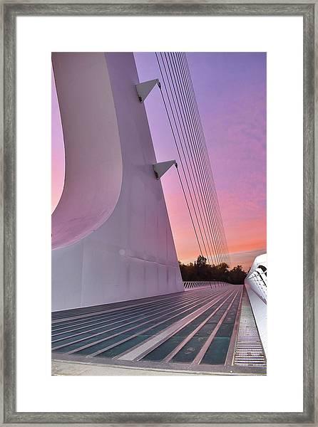 Sundial Bridge Framed Print