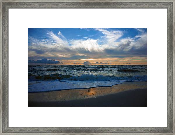 Sunset At Delnor-wiggins Pass State Park Framed Print