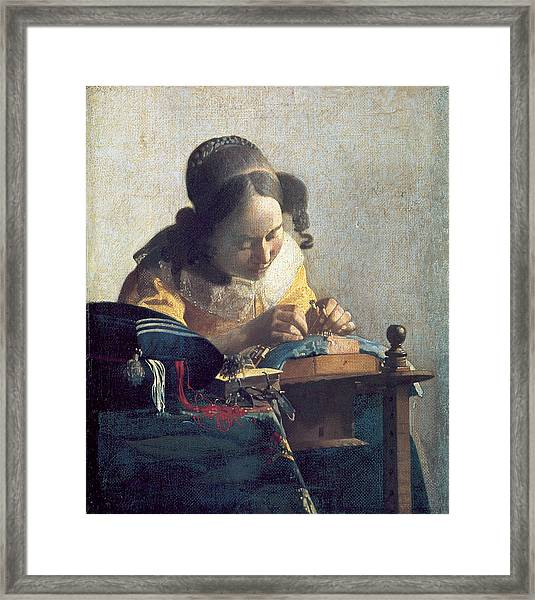 The Lacemaker Framed Print
