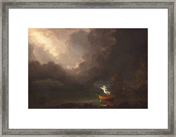 The Voyage Of Life Old Age Framed Print