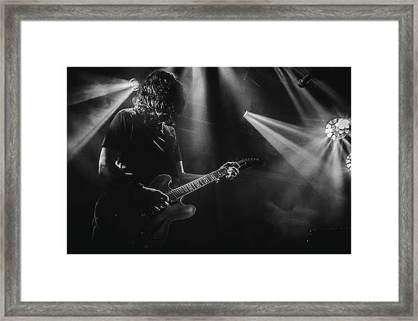 Uk Foo Fighters Live @ Edinburgh Framed Print