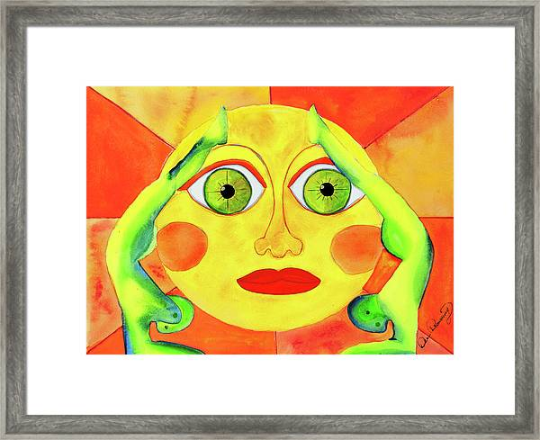 Framed Print featuring the painting Dual Energy by Dee Browning
