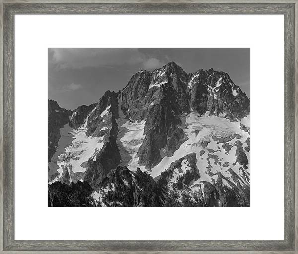 304630 Bw North Face Mt. Stuart Framed Print