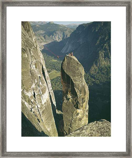 306540 Climbers On Lost Arrow 1967 Framed Print