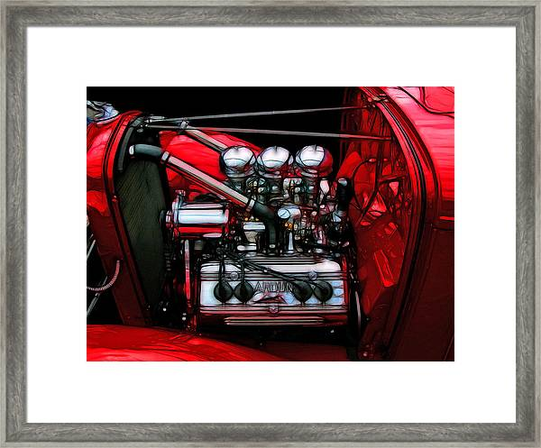 32 Ford With Ardun Heads Framed Print