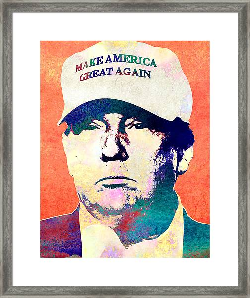 Donald Trump 2016 Presidential Candidate Framed Print
