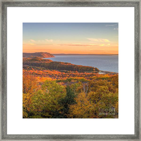 Fall In Sleeping Bear Dunes Framed Print by Twenty Two North Photography
