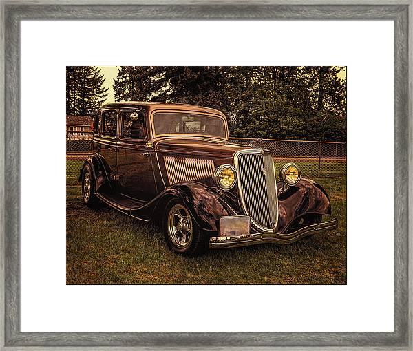 Cool 34 Ford Four Door Sedan Framed Print