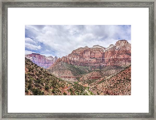 Zion Canyon National Park Utah Framed Print