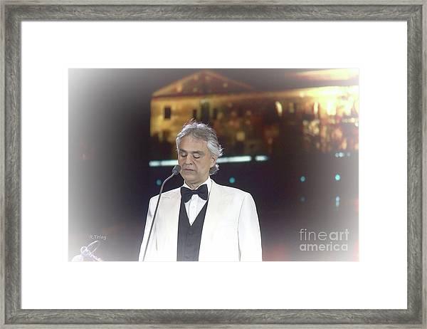 Andrea Bocelli In Concert Framed Print