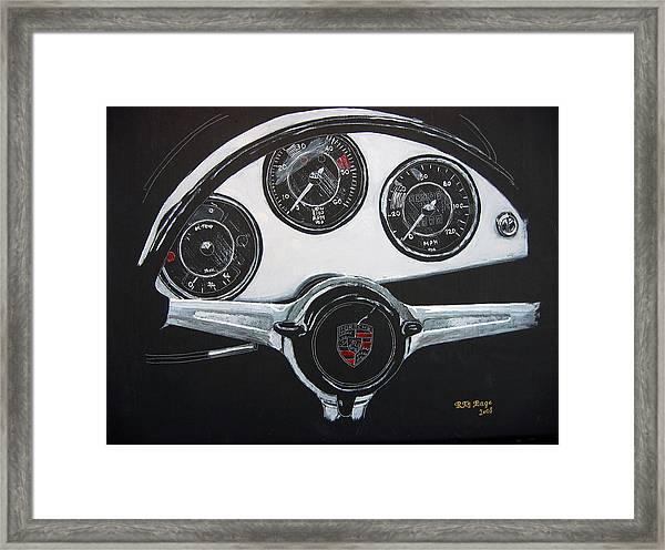 356 Porsche Dash Framed Print