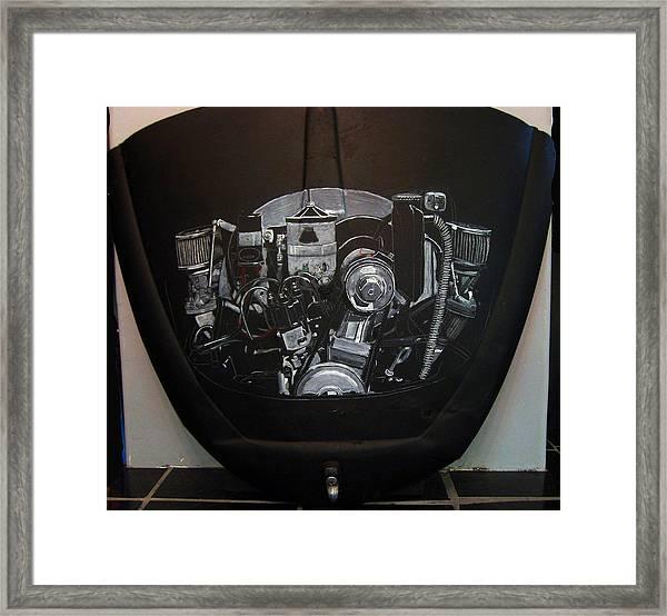 356 Porsche Engine On A Vw Cover Framed Print